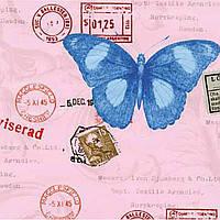 Самоклейка, бабочки, розовый, синий,  GEKKOFIX, Голландія, 45 cm