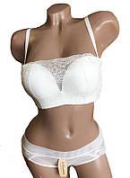 ТМ V-Elizabella 280 Комплект женского нижнего белья белый, фото 1