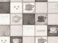 Обои на стену, чашки, яркий рисунок, виниловые,  B49.4 Калипсо 5525-10,супер мойка, 0,53*10м
