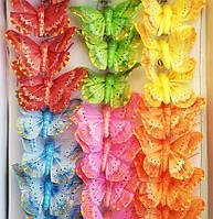 Бабочки декоративные (5 см, 24 шт)