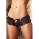 Kaur's Laurel 14055 Комплект жіночої нижньої білизни чорно-бежевий, фото 5