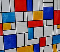 Самоклейка, разноцветная, яркая,  GEKKOFIX,  витражная для стекол, 45 cm