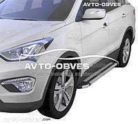 Профильные подножки для Hyundai Santa Fe 2013-2016, ПР код Brilliant S