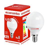 Светодиодная лампа Economka LED G45 6W E14-4200K