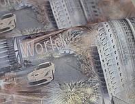 Обои на стену, город, светлый, серый, ночной город, бумажные,B27,4 Квартал 6522-10, 0,53*10м