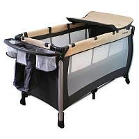 Детская кровать-манеж Alexis-Babymix HR-A001 K Черный/Бежевый