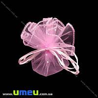 Подарочный мешочек из органзы, 8-10 см, Розовый, 1 шт. (UPK-020321)