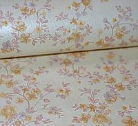 Обои на стену, мелкий рисунок, мелкие цветочки, светлый, бежевый, бумажные, Тенере 78-01, 0,53*10