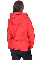 Куртка демисезонная женская короткая с капюшоном, фото 3