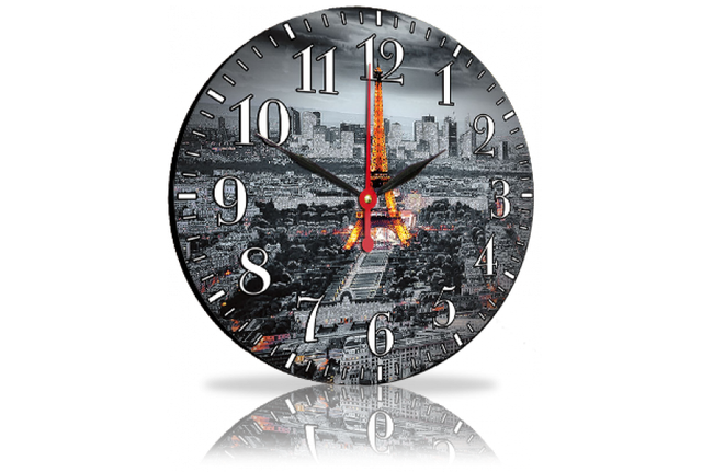 Круглые часы 33см