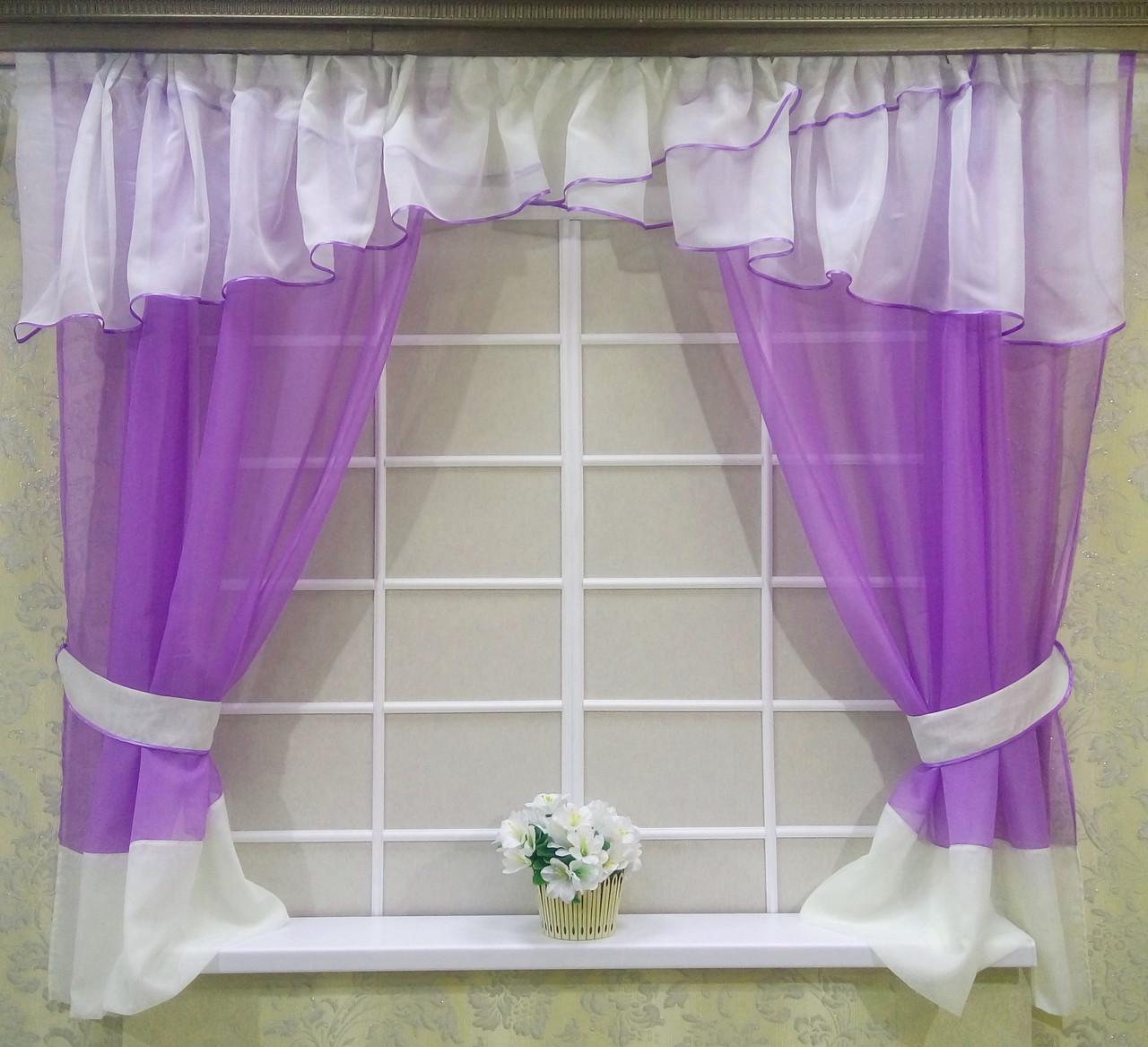 "Кухонные шторы ""Сказка"" фиолетовый"
