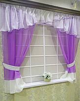 """Кухонные шторы """"Сказка"""" фиолетовый, фото 2"""