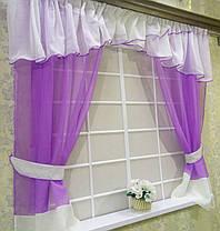 """Кухонные шторы """"Сказка"""" фиолетовый, фото 3"""