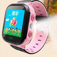 Смарт часы с трекером Розовые детские  Smart Y21 + фонарик, фото 1