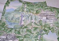 Обои на стену, кирпич, зеленый, цветы, влагостойкие, бумажные, B56,4 Плющ 8047 - 04, 0,53*10м