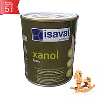 Отделочная открытопористая лазурь для дерева на водной основе цветная - Ксанол 0,75л=10м2 isaval