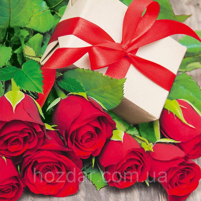 Пакет подарочный бумажный чашка 16х16х7 (22-020)