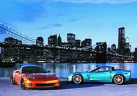 Фотообои, машины, автомобиль, спортивная машина, город, мегаполис, ПРЕСТИЖ №5 196смХ136см