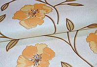 Обои на стену, крупные цветы, светлый, яркий, бумажные, Калипсо 100-01, 0,53*10м