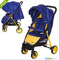 Коляска детская прогулочная M 3435-4 PREGO, синя-желтая***