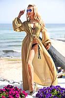 В9056/13 Туника женская пляжная с длинным рукавом