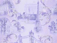 Обои на стену, цветы, сереневый, акрил на бумажной основе, B76,4 Таун 6466-07, 0,53*10м