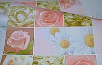 Обои, цветы, крупный рисунок, бежевый, влагостойкие,бумажные,B56,4 Соцветие 8081-01, 0,53*10м