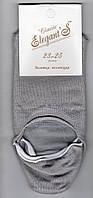 Подследники женские х/б Elegant Classic, 23-25 размер, серые, 1140