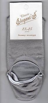 Підслідники жіночі х/б Elegant Classic, 23-25 розмір, сірі, 1140