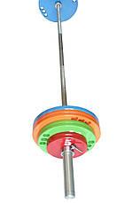 Штанга олимпийская для тяжелой атлетики 250 кг. D50мм. L2200мм., фото 3