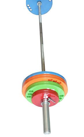 Штанга олимпийская для тяжелой атлетики 120 кг. D50мм. L2200мм., фото 2