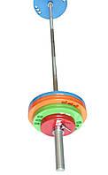 Штанга олимпийская для тяжелой атлетики 80 кг. D50мм. L2200мм.