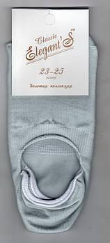 Підслідники жіночі х/б Elegant Classic, 23-25 розмір, світло-сірі, 1141