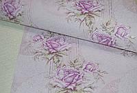 Обои на стену, акрил на бумаге, цветы, крупный рисунок,  B76,4 Ханна 7102-06, 0,53*10м