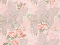 Обои, крупный рисунок, цветы, бабочки, бежевый, акрил на бумаге, B76,4 Флай 7104-02, 0,53*10м