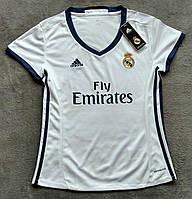 Женская футболка реал (белый)