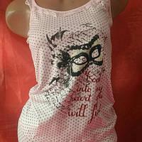 Пижамка майка с шортиками х/б стрейч, фото 1