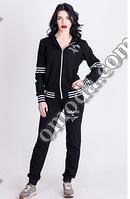 Женский спортивный костюм с капюшоном черный