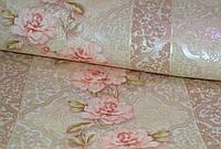 Обои На стену, цветы, полоски,  дуплексные, B64,4 Ансамбль 8051-05, 0,53*10м