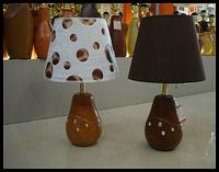 Лампа настольная, 1 лампа, высота лампы - 38 см,  диаметр абажура -23 см.