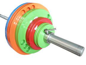 Штанга олимпийская для тяжелой атлетики 250 кг. D50мм. L2200мм., фото 2