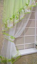"""Кухонные шторы """"Лилия"""" салатовые, фото 3"""