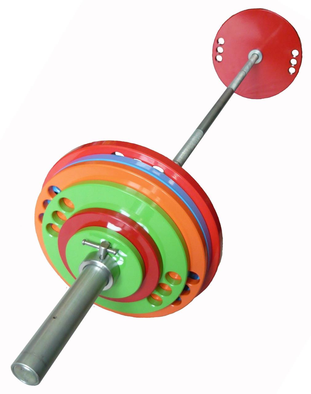 Штанга олимпийская для тяжелой атлетики 120 кг. D50мм. L2200мм.