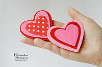Сердечко - валентинка прищепка из фетра, фото 1
