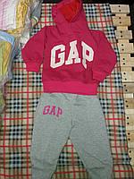 Детский спортивный костюм GAP для девочки, материал двунитка. От 1 до 6 лет