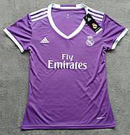Женская футболка реал (фиолетовая)
