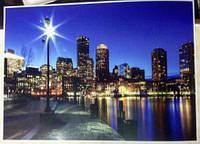 Фотообои, ночной город, мост, мегаполис,  ПРЕСТИЖ №16 272Х196