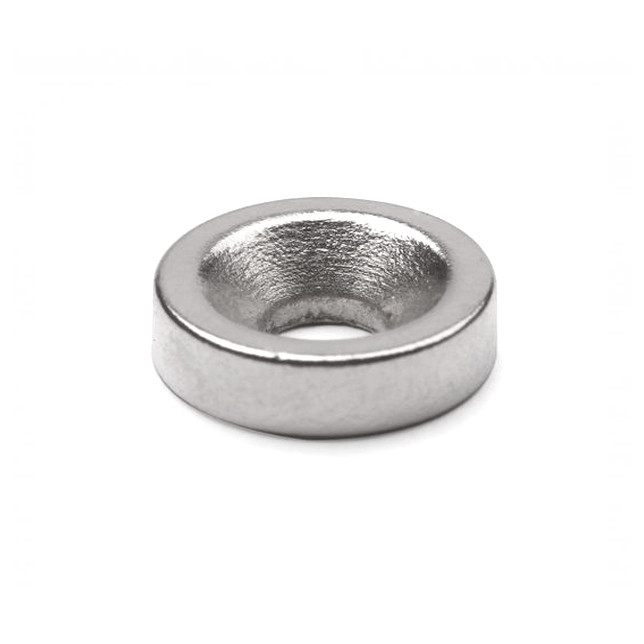 Неодимовый магнит с зенковкой D8 х h3 мм, диск (сила ~ 0.7 кг)