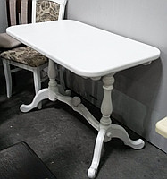 Стол раскладной Дуэт белый 110(+30)х65х75 обеденный деревянный