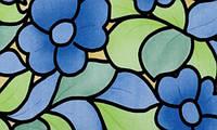 Самоклейка, мозаика, цветы, разноцветный,  PATIFIX,  витражная для стекол, 45 cm